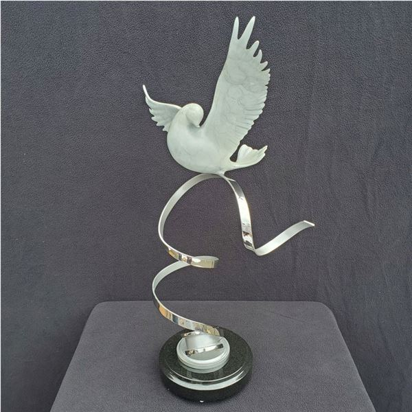 Light as Air Bronze and Stainless Steel Statue by Scott Hanson $4,500 value!