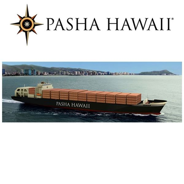 Gift Certificate for 1-Way Vehicle Shipping from Pasha, Between Hawaii & San Diego, Value $1,497