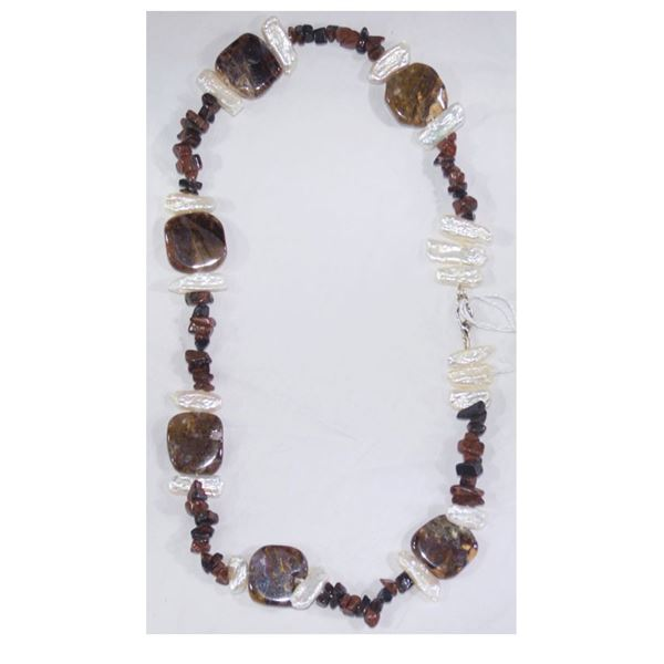 New Meng Dynasty Jewelry Sets; Button Pearls, Jasper & Long Shells!
