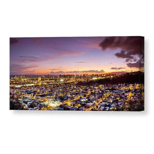 """""""Electric Honolulu"""" Photographic Image on Canvas 20"""" X 40"""" by Sean Davey"""