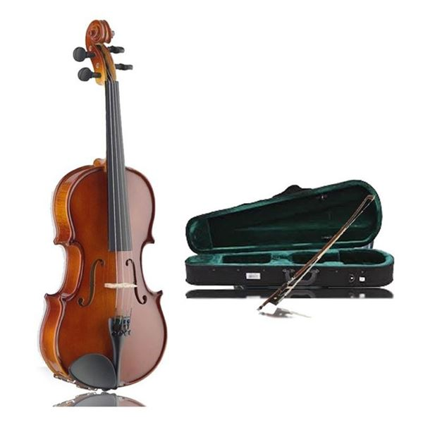 Stagg Acoustic Violin VN-4/4 EF with Case & Bow, Tuner & Detailing Block