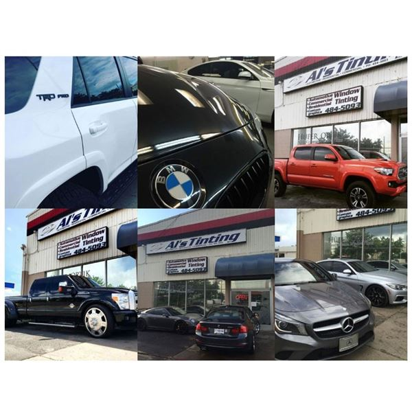 Al's Tinting (2) $100 Gift Certificates (No Expiration Date)