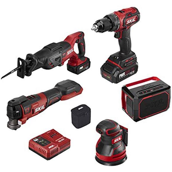 Skil CB7434-21 PWR CORE 12™ Brushless 6-Tool Combo Kit (New)
