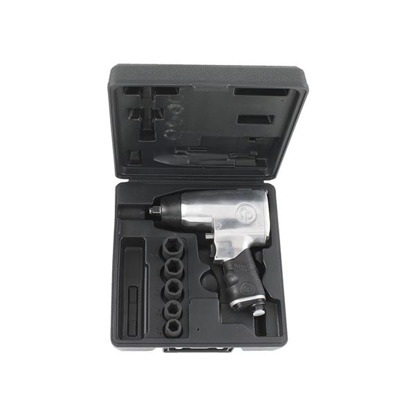 Chicago Pneumatic Air Ratchet Wrench Kit, 1/2'' Impact Wrench New