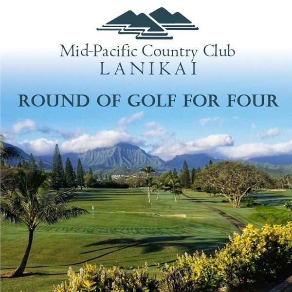 A Round of Golf for (4) at Mid-Pacific Country Club