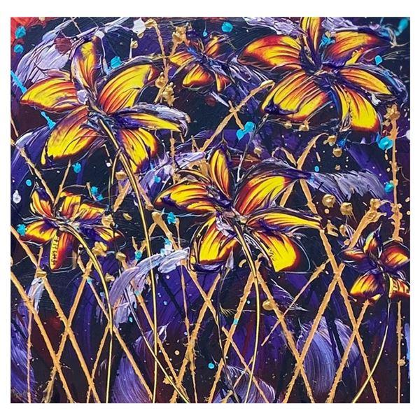 """Amethyst Fields"" by Pamela Sukhum; Giclee on Canvas 24 x 24"