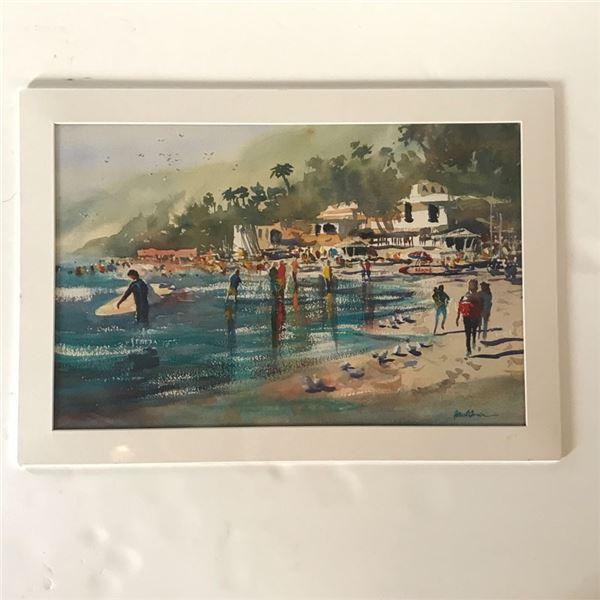 "2 ""Afternoon Surf""; Paul Oman Fine Arts LLC ( 9 x 11'') & ( 23 x 16'')"