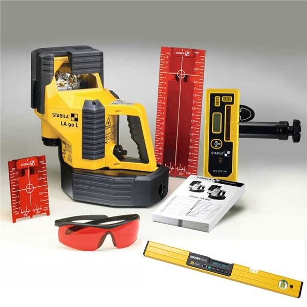 "New, Stabila LA 90L Line Laser, M-D Building Products 92515 SmartTool 24"""