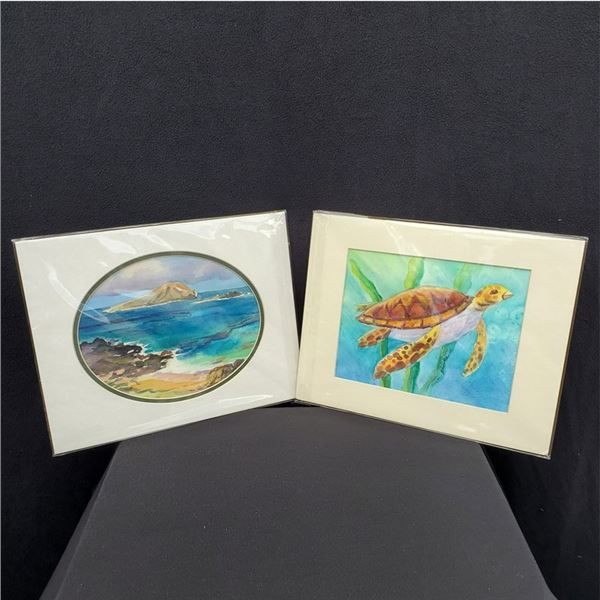 (2) 11x14'' Watercolors by Susan Brooks & Certificate for 2-hour art lesson