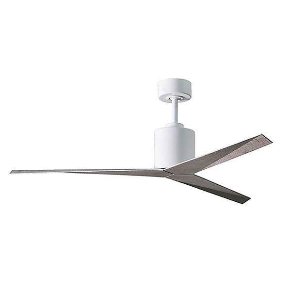 """Eliza LF Gloss White Finished, Brushed Nickel Blades 56"""" Ceiling Fan New"""