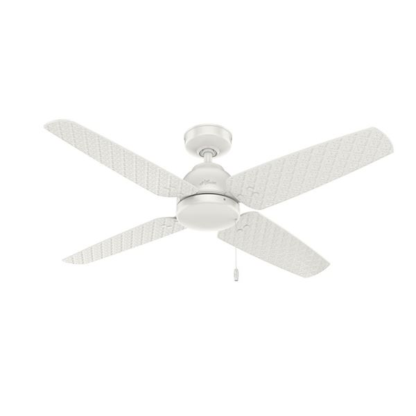 """52"""" Sunnyvale Indoor/Outdoor Ceiling Fan Fresh White Finish, New"""