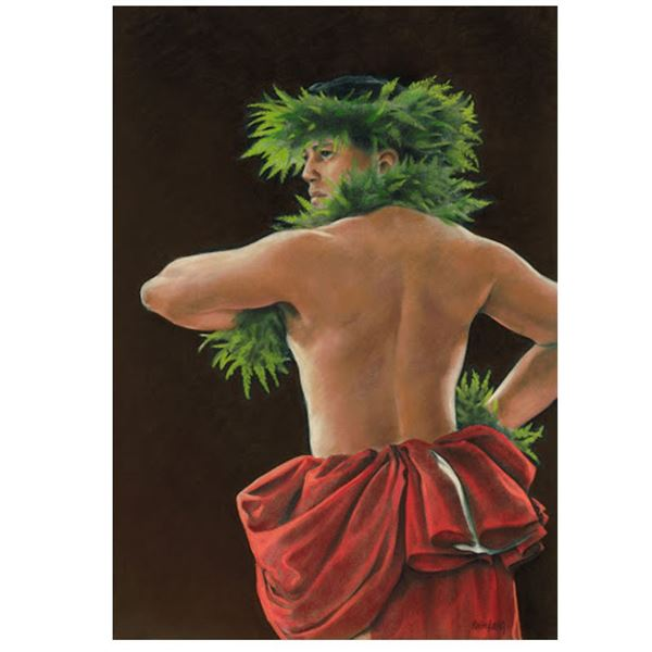 """Limited Edition Giclee """"In Honor of Laka"""" by Kathy Long, 30 x 22''"""