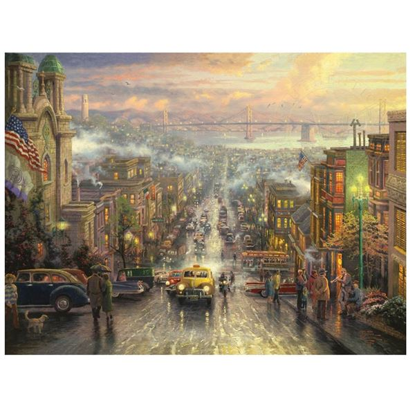 "Gallery Proof Print ""The Heart of San Francisco"" by Thomas Kinkade, New"