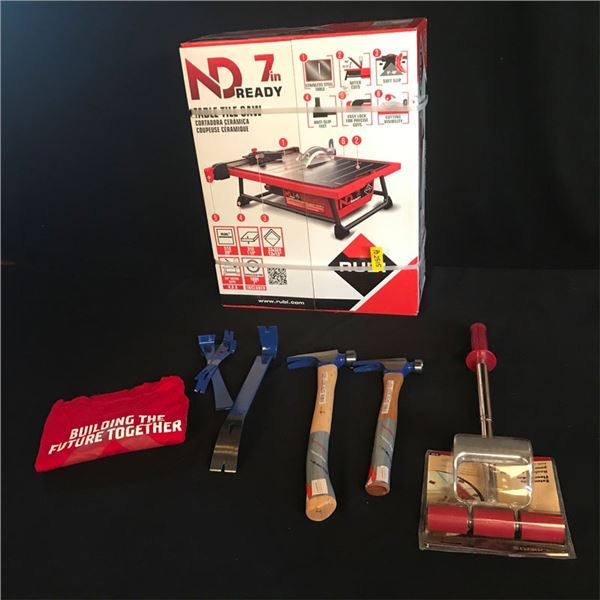 """Rubi Tools ND 7"""" Ready Electric, 10-955 Extendible Floor Roller & More!"""
