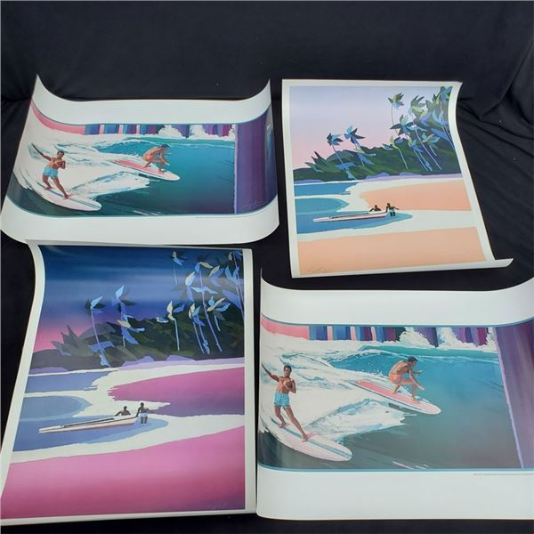 (4) unsigned vintage Posters from Auster Studio all 24x34''