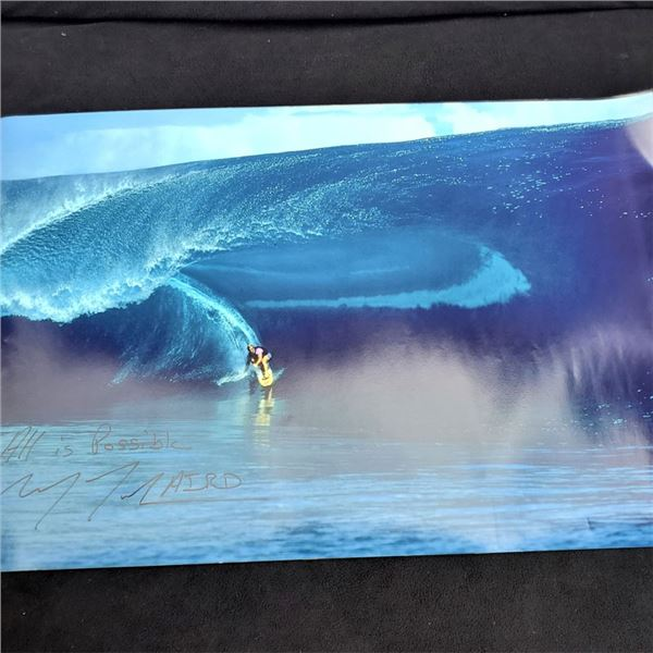 """Autographed Laird Hamilton Poster """"All is Possible"""" 20 x 30''"""