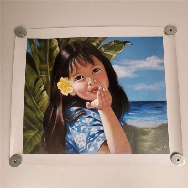 """Sweet Aloha""16.25"" x 19.75"" ""Tropical Shadows"" 26"" x 20"" by Kathy Long"