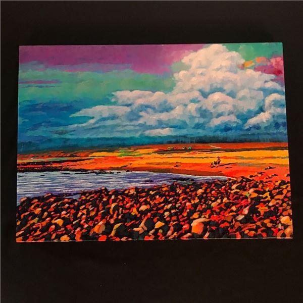 "Medium ""Baja Afternoon"" painting by Pat Watson 28 x 20"""
