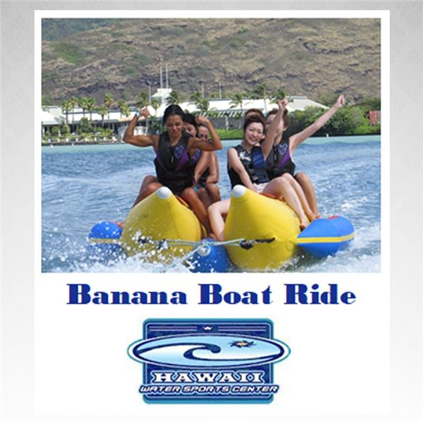 Hawaii Water Sports Banana Boat Ride for up to 6 people!
