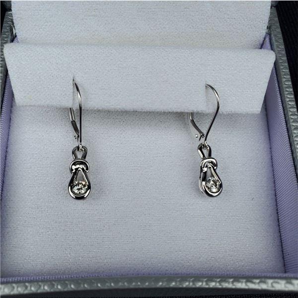 14K White Gold Diamond Earrings from The Wedding Ring Shop, New