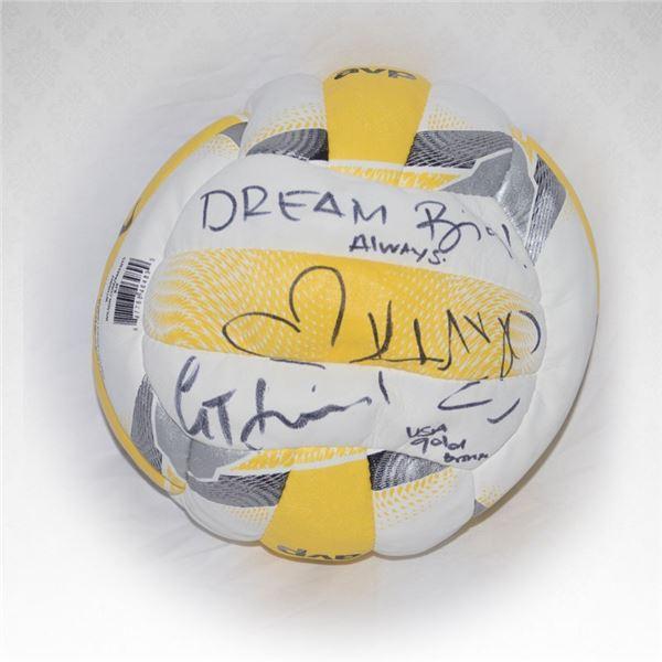 Casey Jennings & Kerri Walsh Jennings Autographed Volleyball
