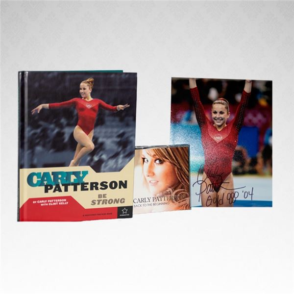 Carly Patterson Autographed book, picture, and CD. New