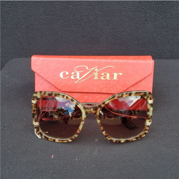 Caviar 2007-31 Sunglasses with Case and Cleaning Cloth (New In Box!)