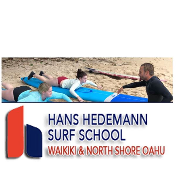 Two Hour Group Surfing Lessons and a Logo T-Shirt from Hans Hedemann