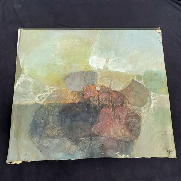 Painting By Lau Chun with Certificate (has damage from aging) $22,500