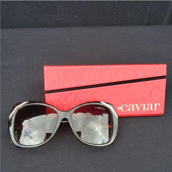 Caviar (Color 16) 488 Sunglasses with Swarovski Crystal Elements, New