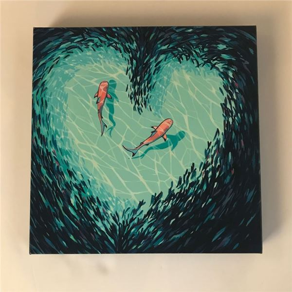 "16"" X 16'' ""Teamwork"" on Canvas by Christie Shinn of Shinn Studio"