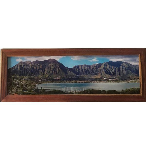 Framed photo of Kaneohe Bay