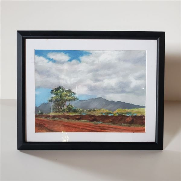 """Beautiful Painting of a Lonely Mountain Road 13 x 15 1/2 """""""