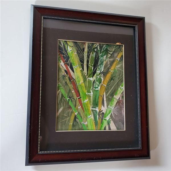 """Framed Bamboo Art 16 x 13 """""""