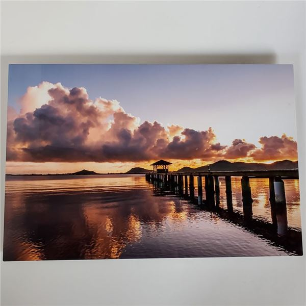 """Beautiful Picture of Habilitat's Pier on metal 30 x 20.5"""""""