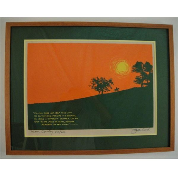 (4) Lithographs By: Jack Lord