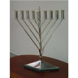 SILVER STERLING 925 JEWISH MENORAH  CANDELABRUM#1762510