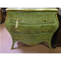 Louis XV Bombe Lacquered  French Chest #1762516