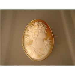Brooch  Vintage  Cameo  18ct. Gold #1762518