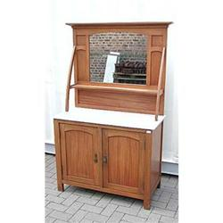 Circa 1910 Beech Dresser With Marble Top #1762521