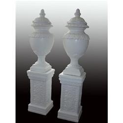 White French Garden Urns (Pair) #1762531