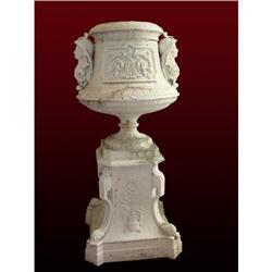Victorian Etruscan Revival Urn w Pedestal #1762532