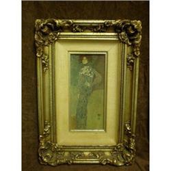 Emilie Floge by Gustav Klimt  Print On Board #1762543