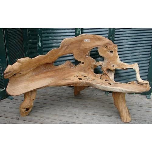 Fine Art Teak Tree Root Primitive Garden Bench 1779353 Gmtry Best Dining Table And Chair Ideas Images Gmtryco