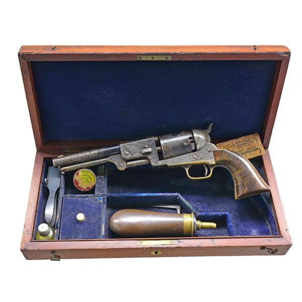 CASED ENGRAVED COLT LONDON DRAGOON REVOLVER.