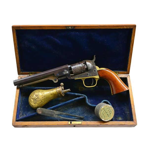 "FINE CIVIL WAR 6"" CASED COLT MODEL 1849 PERCUSSION"