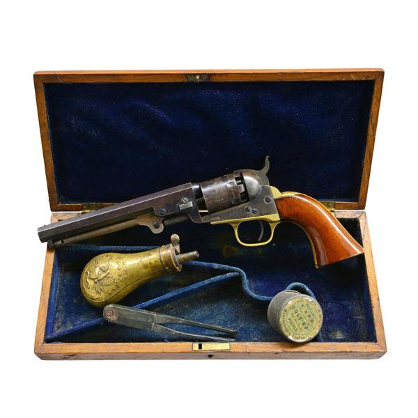 FINE CIVIL WAR 6  CASED COLT MODEL 1849 PERCUSSION