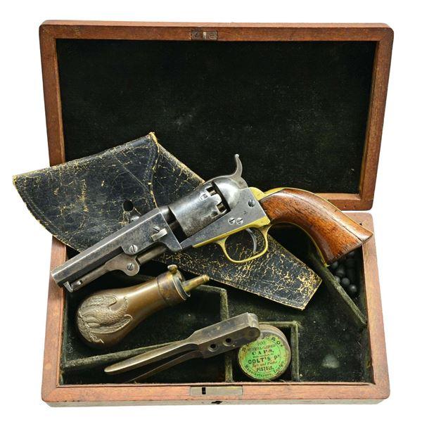 CASED INSCRIBED COLT MODEL 1849 REVOLVER, CAPT.