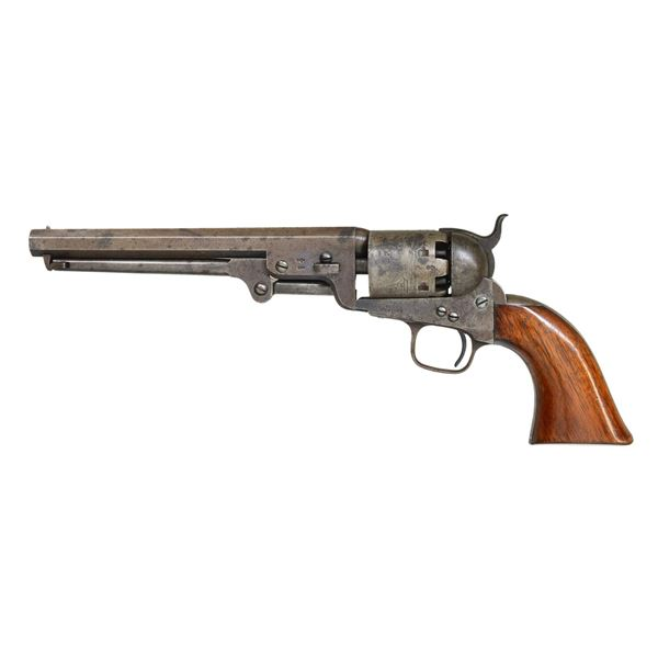LOWER CANADA MARKED COLT 1851 NAVY REVOLVER.