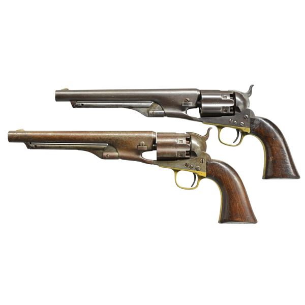 RARE & HISTORIC PAIR OF COLT FLUTED ARMY REVOLVERS